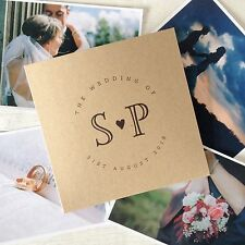 "1x personalizzata ""iniziali"" CD DVD COVER / CUSTODIA per matrimonio foto video"