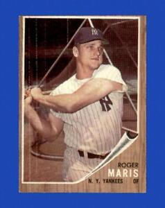 1962 Topps Set Break # 1 Roger Maris VG-VGEX *GMCARDS*