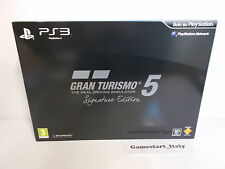 GRAN TURISMO 5 SIGNATURE LIMITED COLLECTOR'S EDITION SONY PS3 - GT5 VERSIONE ITA
