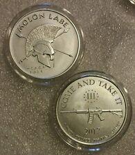 1 oz .999 Silver Molon Labe,  AR 15 second amendment 300 come and take it