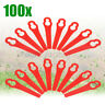 100Pcs Plastic Replacement Blade Line Trimmer Garden Mower For Grass