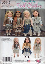 "Simplicity 0442 1392 Sewing Pattern 18"" Doll Clothes Steampunk Boho Medieval"