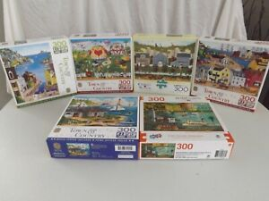 Lot of 6  300 PIECE JIGSAW PUZZLE MASTER PIECES BUFFALO LARGE FORMAT