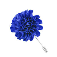 Fashion Flower Floral Lapel Pin Stick Tie Brooch Boutonniere Men Accessories EB