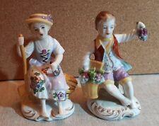 A Pair Of Sitzendorf Porcelain Figures.