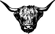 Highland Cow Bull Head Vinilo coche Van Camioneta Carro Sticker, Decal hshc1