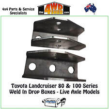 BMR Weld In Drop Boxes suit Toyota Landcruiser 80 100 Series Live Axle Model