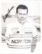 1980 BOBBY UNSER signed INDIANAPOLIS 500 PRESS KIT 8X10 PHOTO INDY CAR penske po