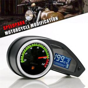 Digital Speedometer Tachometer Fuel Gauge LCD Screen Motorcycle Accessories 1Pcs