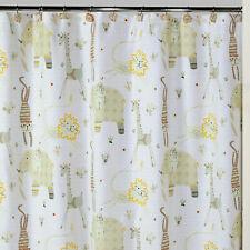 "Creative Bath Animal Crackers 72"" x 72"" Cotton Shower Curtain"