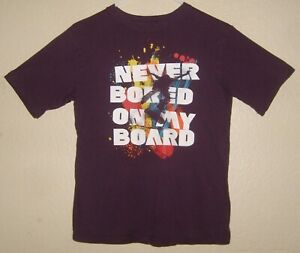 Boys Childrens Children's Place Skater T-Shirt XL / 14 Never Bored On My Board
