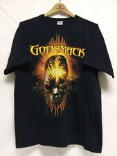 Godsmack IV T-Shirt Men's Size Large Black Distressed Skull & Flames