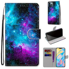 Starry Sky Fashion Glitter Bling Flip Card Wallet Case Cover For Various Phones
