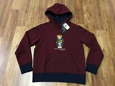 BOYS MEDIUM (10-12) - Polo Bear Ralph Lauren Yale Bear Hoodie Sweatshirt