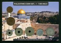 Palestine Coin set:1-100 Mils,1927-1946,7 Coins * Western Wall & Temple Mount *
