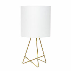 Simple Designs Down to the Wire Table Lamp with Fabric Shade