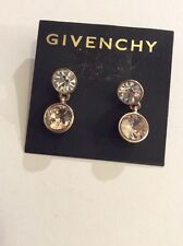 $45 Givenchy Swarovski Crystal Oval Dangle Earrings 131 D GE
