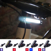 Bike Bicycle Cycling USB Rechargeable Warning Light Front Rear LED Tail Lamp De