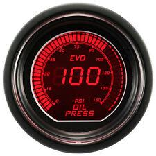 52mm Autogauge Digital EVO Gauge OIL PRESSURE Meter RED/BLUE SMOKE LED PSI/BAR
