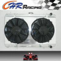 aluminum radiator+shroud+fans FOR Nissan SILVIA S13 CA18DET CA18 52MM