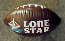 "Lone Star / Lone Star Light Beer Blow Up Football 30"" New Old Stock"