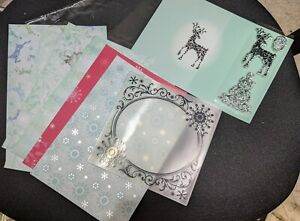 Reindeer Stamp & Emboss Set Cling Stamps & Papers with embossing folder