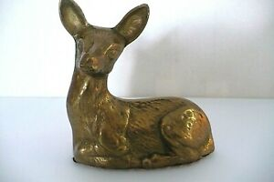 Collectible Sitting Brass Deer