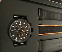 End Clothing x TIMEX ALLIED CHRONOGRAPH  Watch 'blackout' color Black / Orange