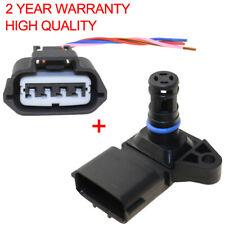 4Bar Intake Air Boost Pressure MAP Sensor For Renault Peugeot Kia 5WK96841 &Plug