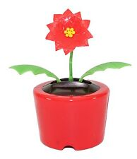 Christmas Gift~Dancing Poinsettia Flower Solar Toy US Seller Office Home Decor