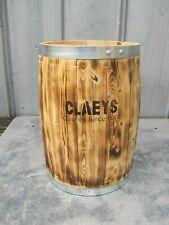 New ListingClaeys Candy Wooden Barrel Banded Gun Powder Keg Rustic Western Decor Trashcan