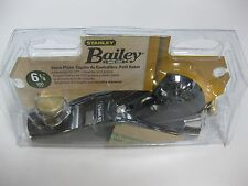Stanley 6 In. Cast Iron Adjustable Cutter Bailey Low Angle Block Plane Hand Tool
