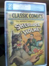 Classic Comics/ Classics Illustrated #33 Sherlock Holmes 1st Print (O) PGX 5.0