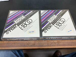 2 New Factory Sealed TDK Audua L-1800 High-Output Low-Noise Pro-Studio Reel Tape