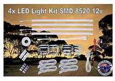 rigid strip light kit 4x 50cm smd8520 inline switch 12v Camping Caravan 4X4
