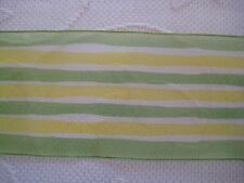 """$1.50 00004000 /Yard Yellow & Green Striped Sheer 2 1/2"""" Wired Ribbon by the Yard"""