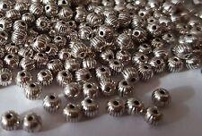 100 Plata Antigua Calabaza 4 mm Espaciador granos para la fabricación de joyas comprar 3 para 2
