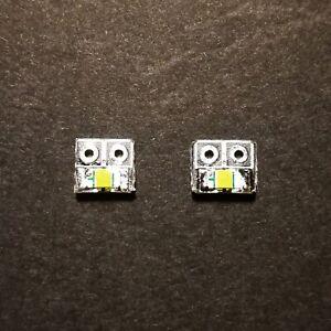 2 x PCB con MICRO LED SMD Rosso/Bianco Freddo PCB x Luci Locomotive scala N/H0