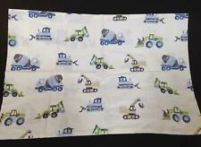 Pottery Barn Kids Christopher Construction standard pillow case truck blue green