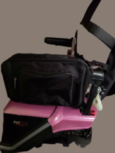 Mobility Scooter Wheelchair Walker Pannier Bag with 2 pocket with shoulder strap