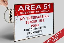 AREA 51 RESTRICTED POSTER 30X21cm Humorous Photo Art Print Home Wall Door Sign