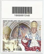 REPUBBLICA ITALIANA - 2010 Anno Giub. Celestiniano 0,60 con codice a barre 1348