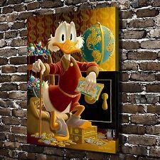 "Disney Scrooge McDuck Paintings HD Print on Canvas Home Decor Wall Art 24""x32"""