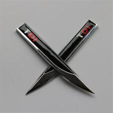 2 pcs TDI Audi Black/Red Fender Badge Side Wing Metal Sticker ( Free Delivery )