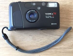 [EXCELLENT] Yashica T4 Carl Zeiss T* lens Tessar 35mm f/3.5 camera BLACK