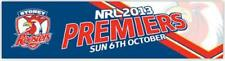SYDNEY ROOSTERS NRL 2013 PREMIERS GAME DATE CAR BUMPER STICKER DECAL