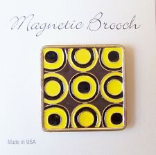 Magnetic Brooch Clip Clasp Pin Geometric Design Accessory Scarves Shawls