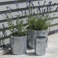 Set of 3 Planters - Garden Trading - Galvanised Steel - Plant Pot Herbs Plants