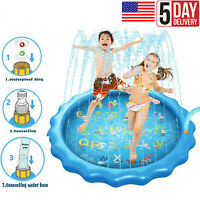Outdoor Lawn Beach Inflatable Water Spray Kids Sprinkler Play Mat Swimming Pool