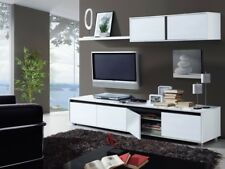 SALE - Aida TV Unit Living Room Furniture Set Media Wall Full White Melamine